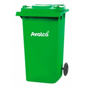 Contenedor de basura verde 240L