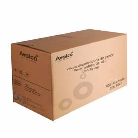 Válvula dispensadora de jabón.  Boca  botella 28- 410, Tubo 23cm. CAJA 1000 UNIDADES