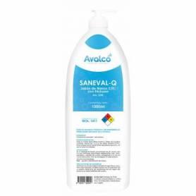 Jabón con Triclosán Saneval-Q de 1000 ml