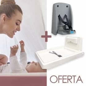 Mudador / Silla Plegable de Bebé + Mudador Vertical de Bebé